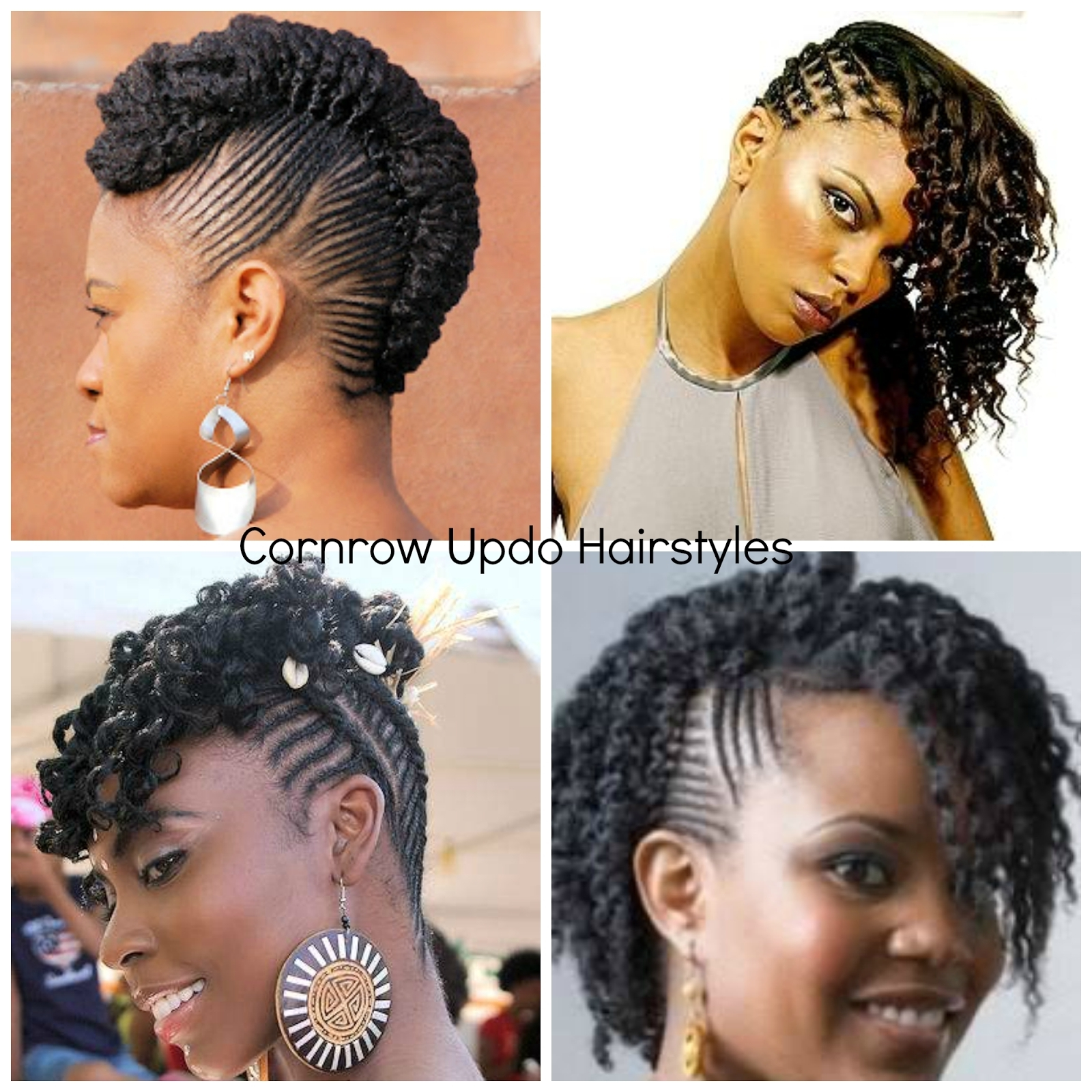 Bunch Ideas Of Cornrow Updo Hairstyles For Black Women Beautiful For Cornrow Updo Hairstyles For Black Women (View 8 of 15)