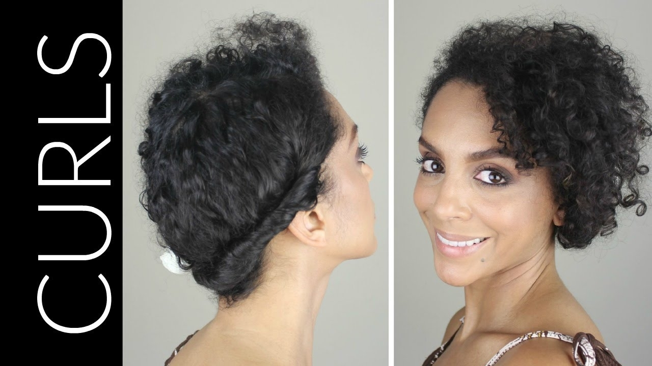 Casual Hairstyle For Curly Hair How To Casual Updo For Naturally Inside Casual Updos For Naturally Curly Hair (View 4 of 15)
