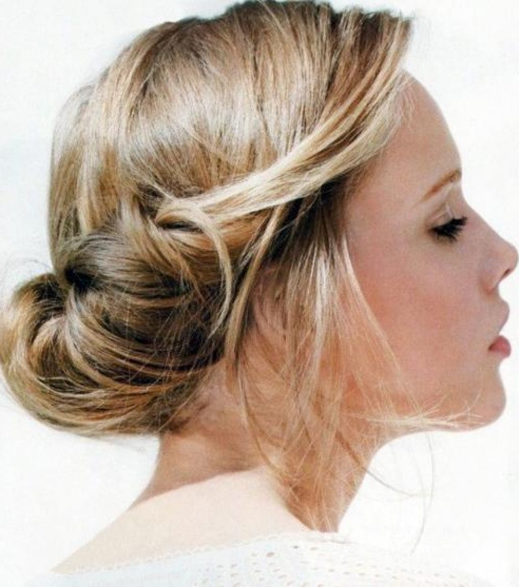 Casual Hairstyles For Medium Length Hair Updo Casual Updos For Inside Updos For Medium Fine Hair (View 6 of 15)