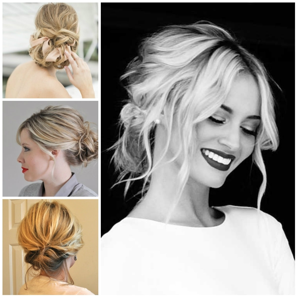 Casual Medium Hairstyles Medium Length Casual Updo – Women Medium Within Updo Medium Hairstyles (View 7 of 15)