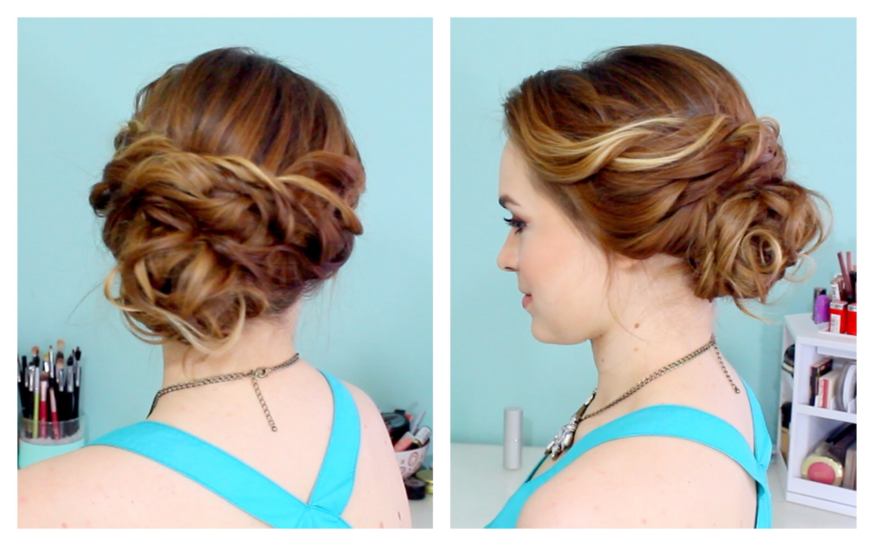 Photo Gallery Of Casual Updos For Medium Length Hair Viewing 12 Of