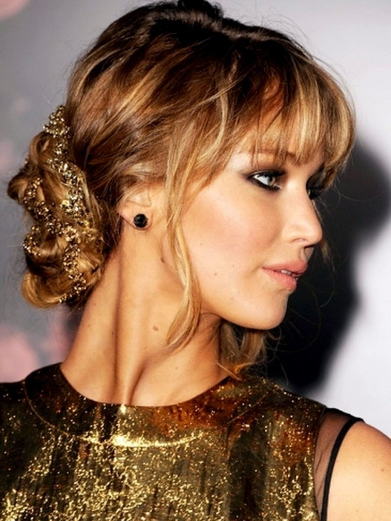 Casual Updos With Fringe 18 Have You Ever Tried Black Updo With Updo Hairstyles With Bangs (View 7 of 15)