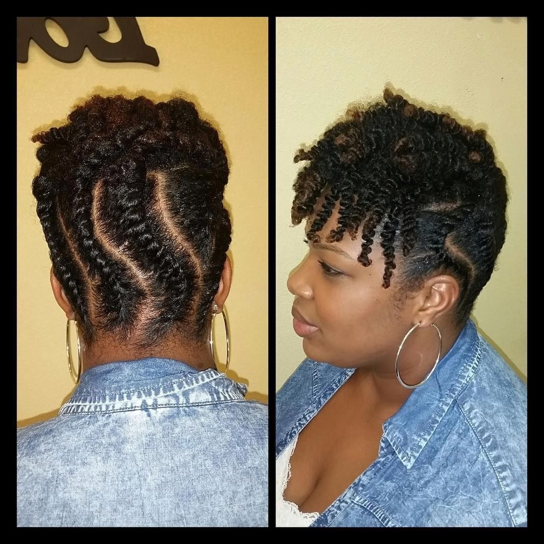 Check Out @touchofheavensalon's Flat Twist Updo With A Twist Out With Updo Twist Out Hairstyles (View 1 of 15)