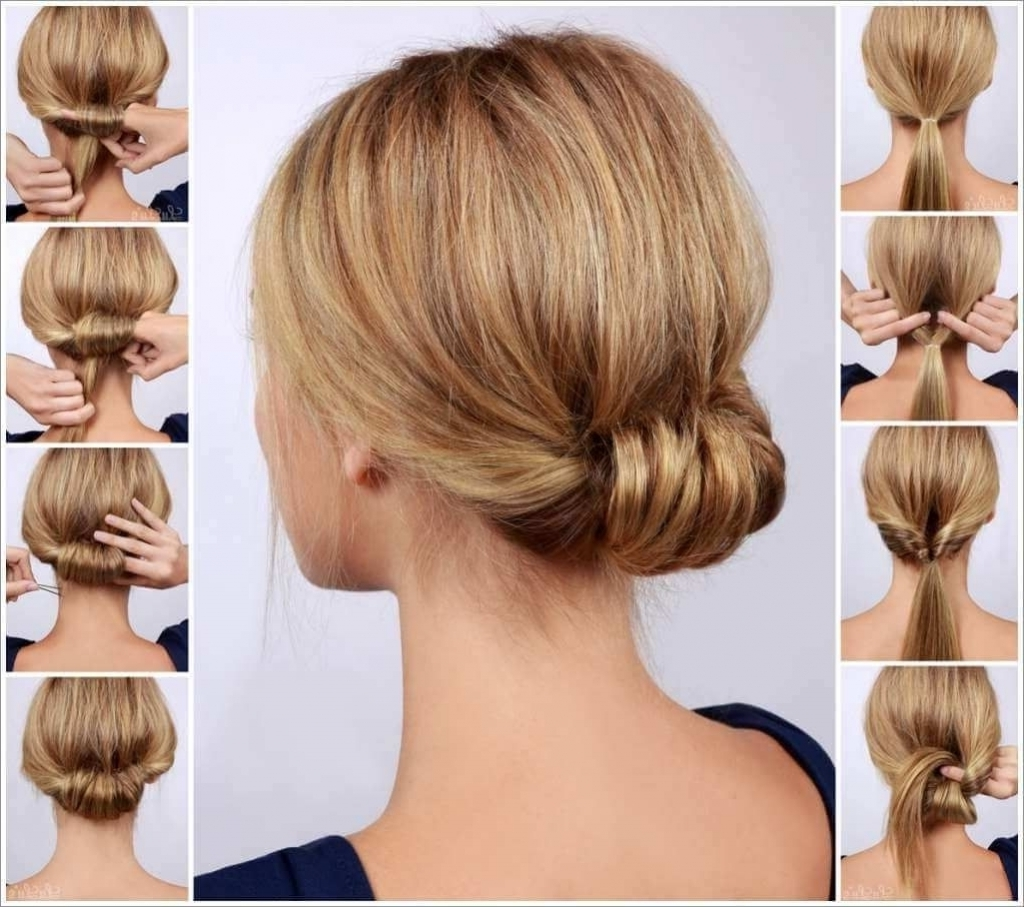 Chic Updo Hairstyles Chic Low Rolled Updo Hairstyle Pictures Photos With Regard To Chic Updos For Long Hair (View 8 of 15)