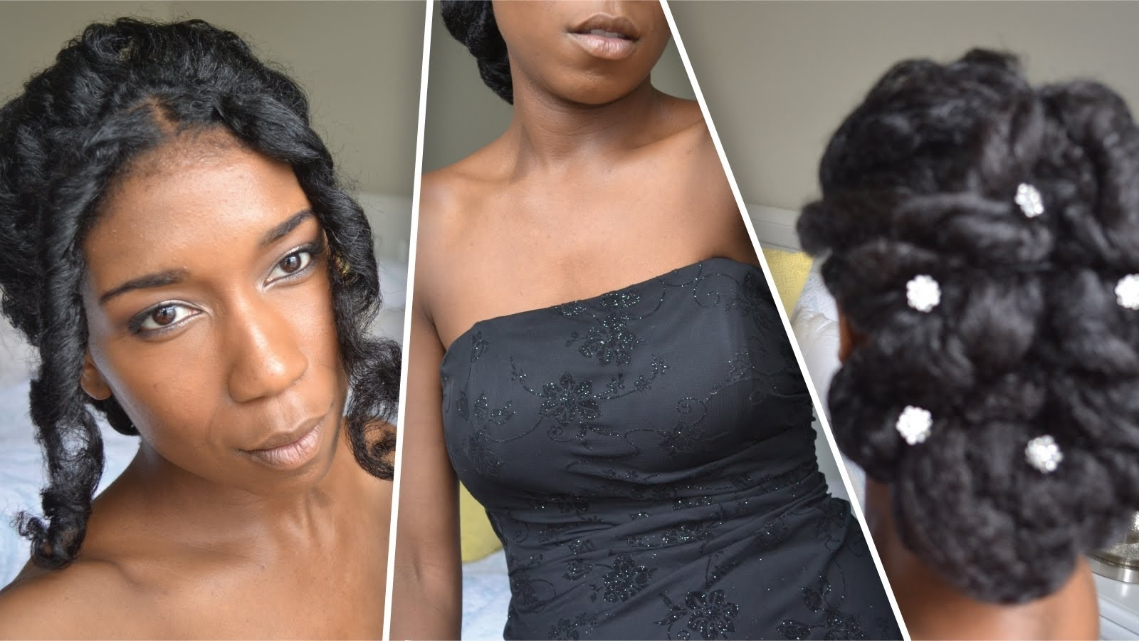Classic Prom And Wedding Updo | Natural Hair – Youtube Within Black Natural Hair Updo Hairstyles (View 3 of 15)