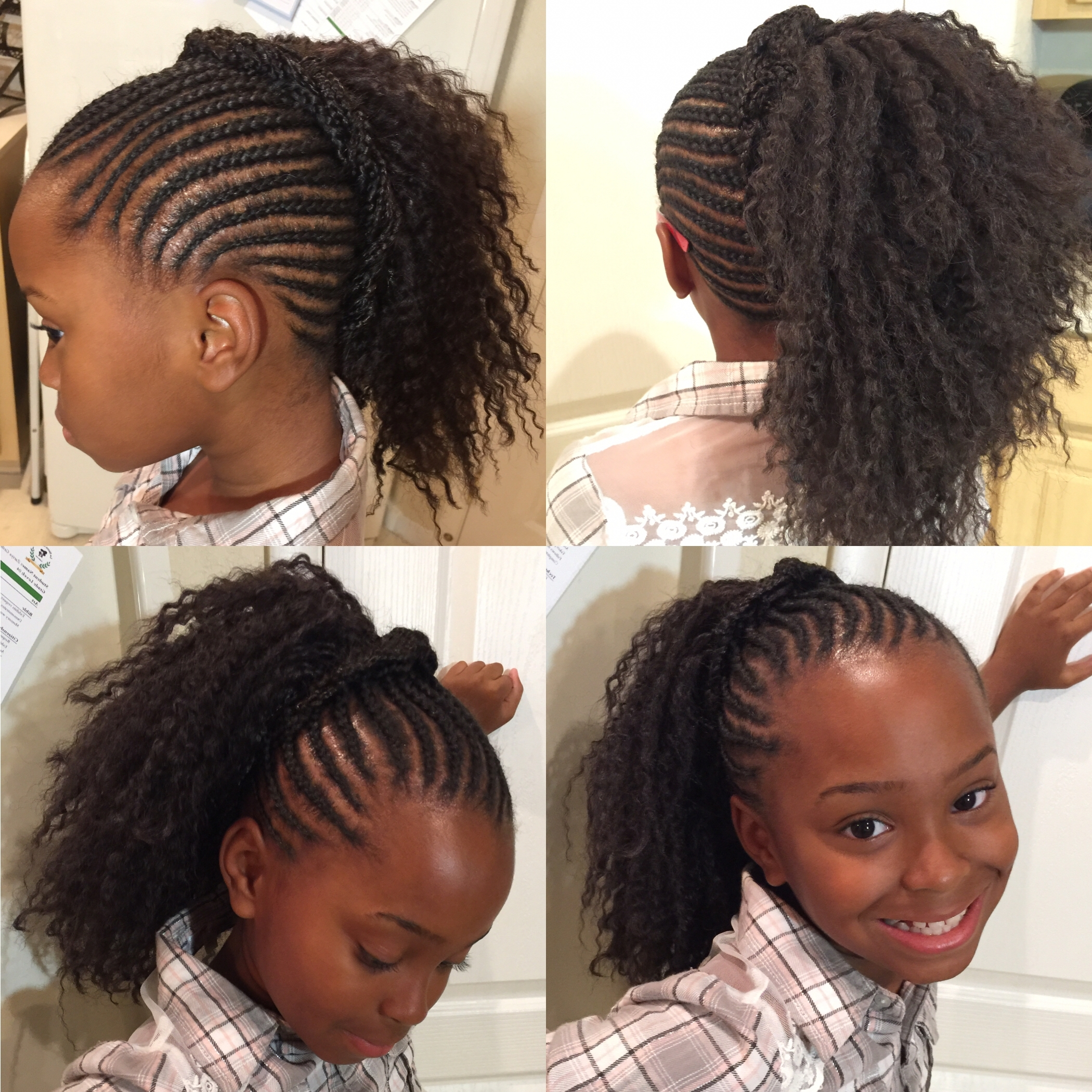 Confortable Little Girl Braided Hairstyles With Beads On Collections Pertaining To Braided Updos With Extensions (View 4 of 15)