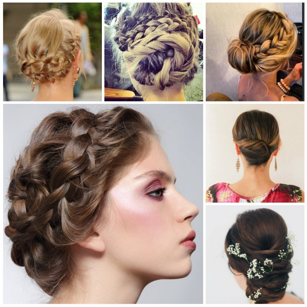 Convenient Braided Updo Hairstyles For Medium Hair | Latest Pertaining To New Updo Hairstyles (View 8 of 15)