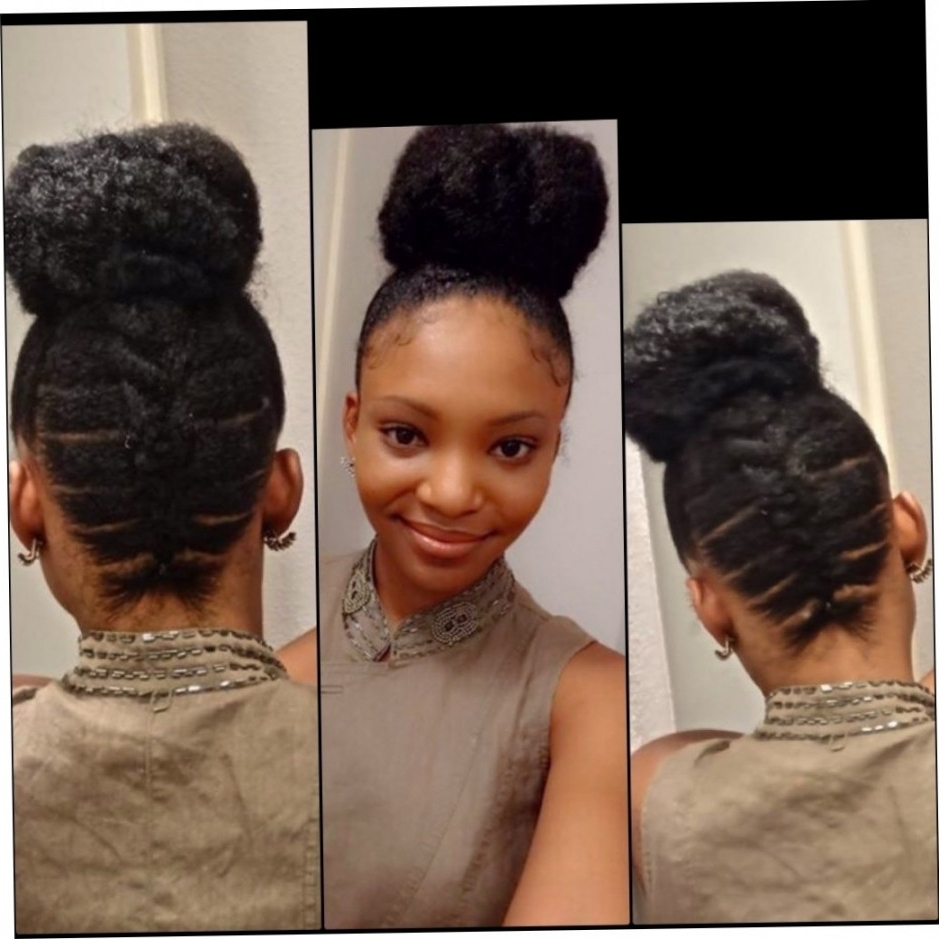 Cornrow Ponytail Hairstyles Cornrow With Afro Ponytail Styles With Regard To Cornrow Updo Ponytail Hairstyles (View 7 of 15)