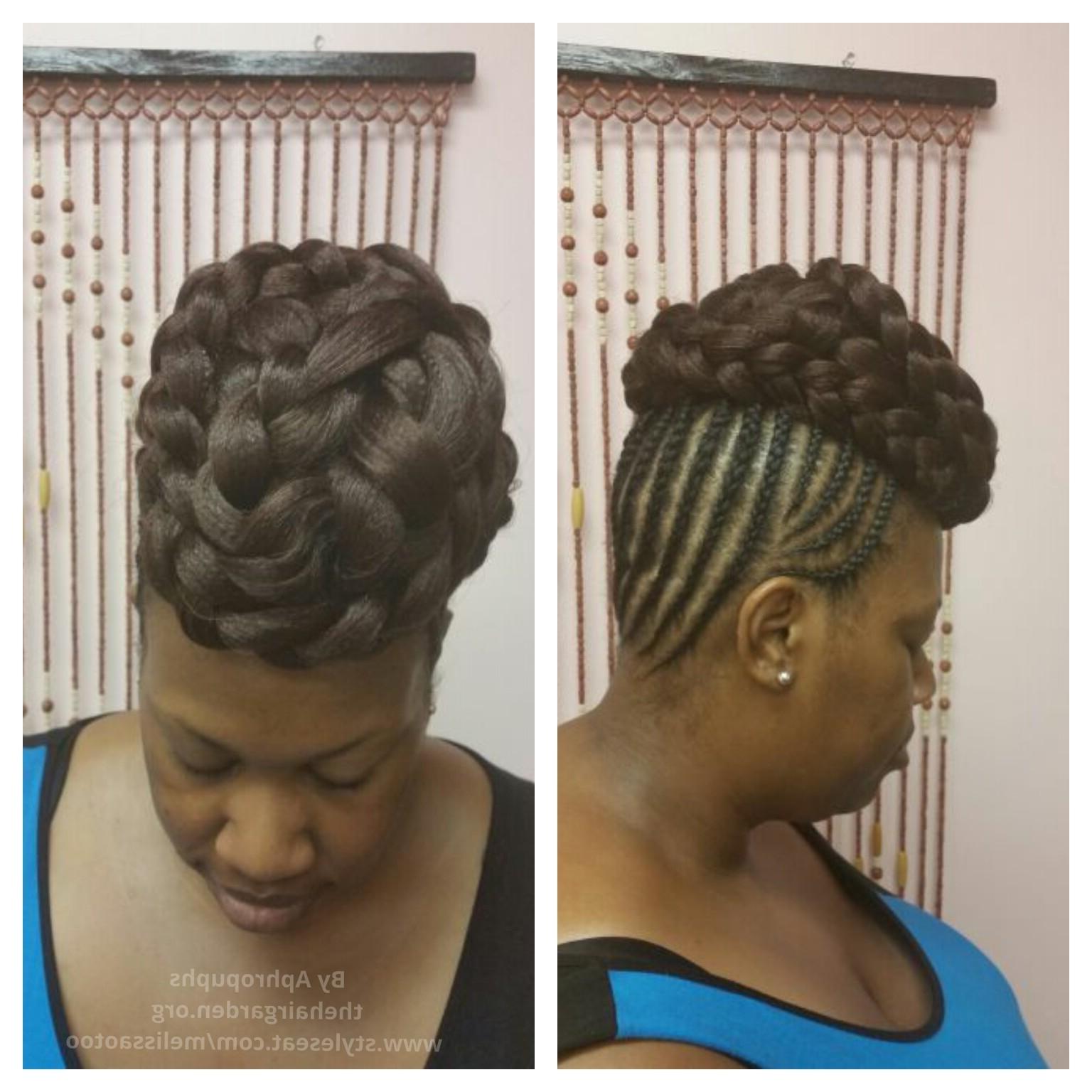 Cornrow Updo – The Hair Garden Nursery Within Scalp Braids Updo Hairstyles (View 6 of 15)