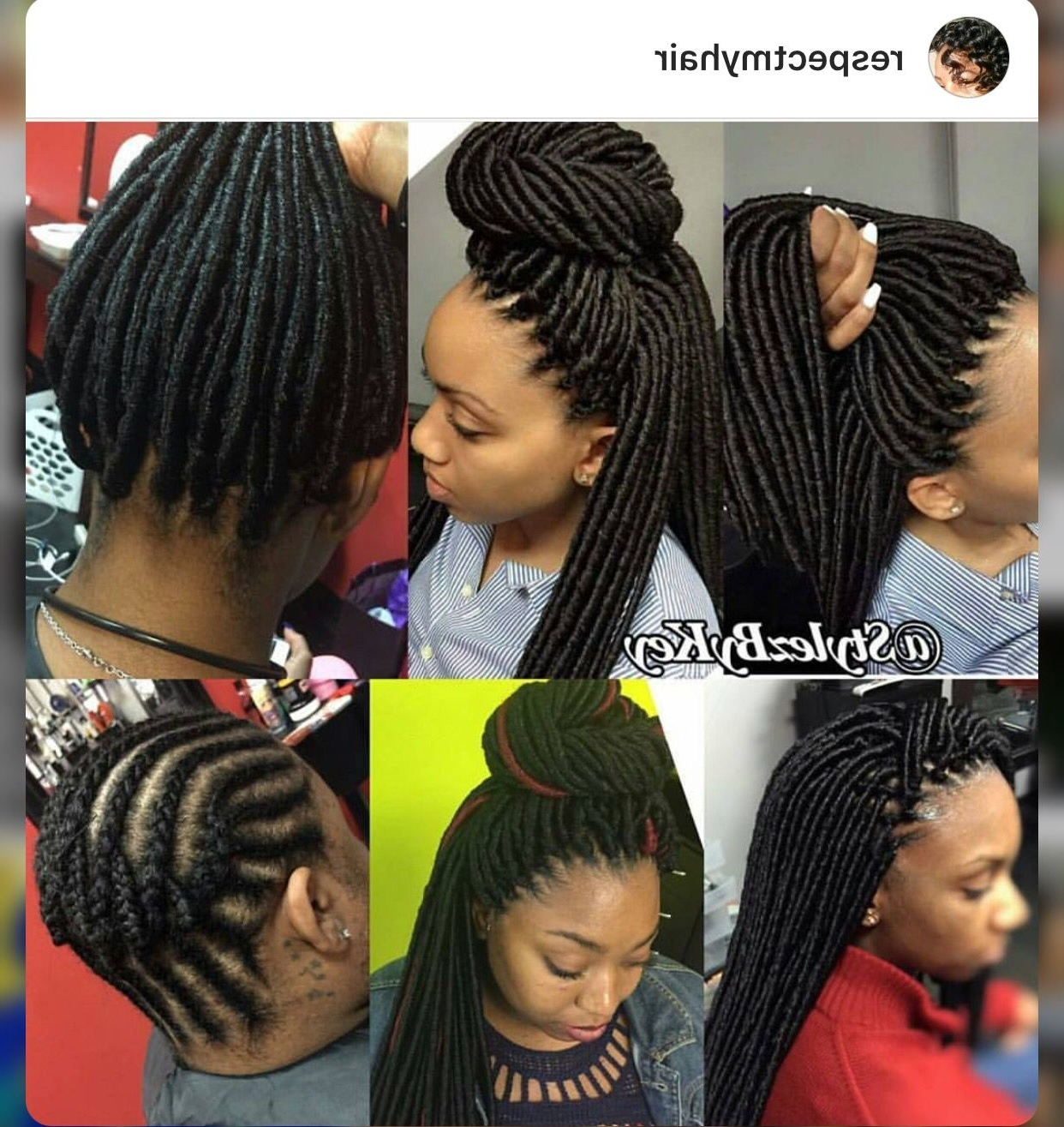 Crochet Dreads | Braid Styles | Pinterest | Dreads, Crochet And With Crochet Braid Pattern For Updo Hairstyles (View 6 of 15)