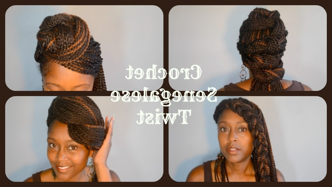 Crochet Senegalese Twist | Styles – Youtube Within Senegalese Twist Styles Updo Hairstyles (View 14 of 15)