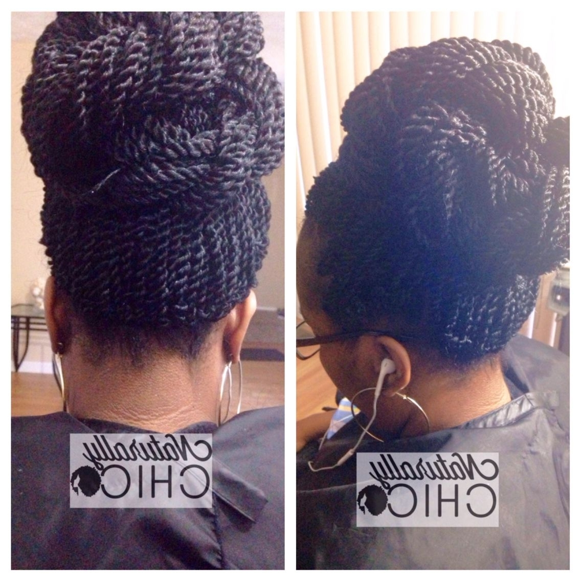 Crochet Senegalese Twists Styled In Bun Updo Style | Hair Inside Senegalese Twist Styles Updo Hairstyles (View 4 of 15)