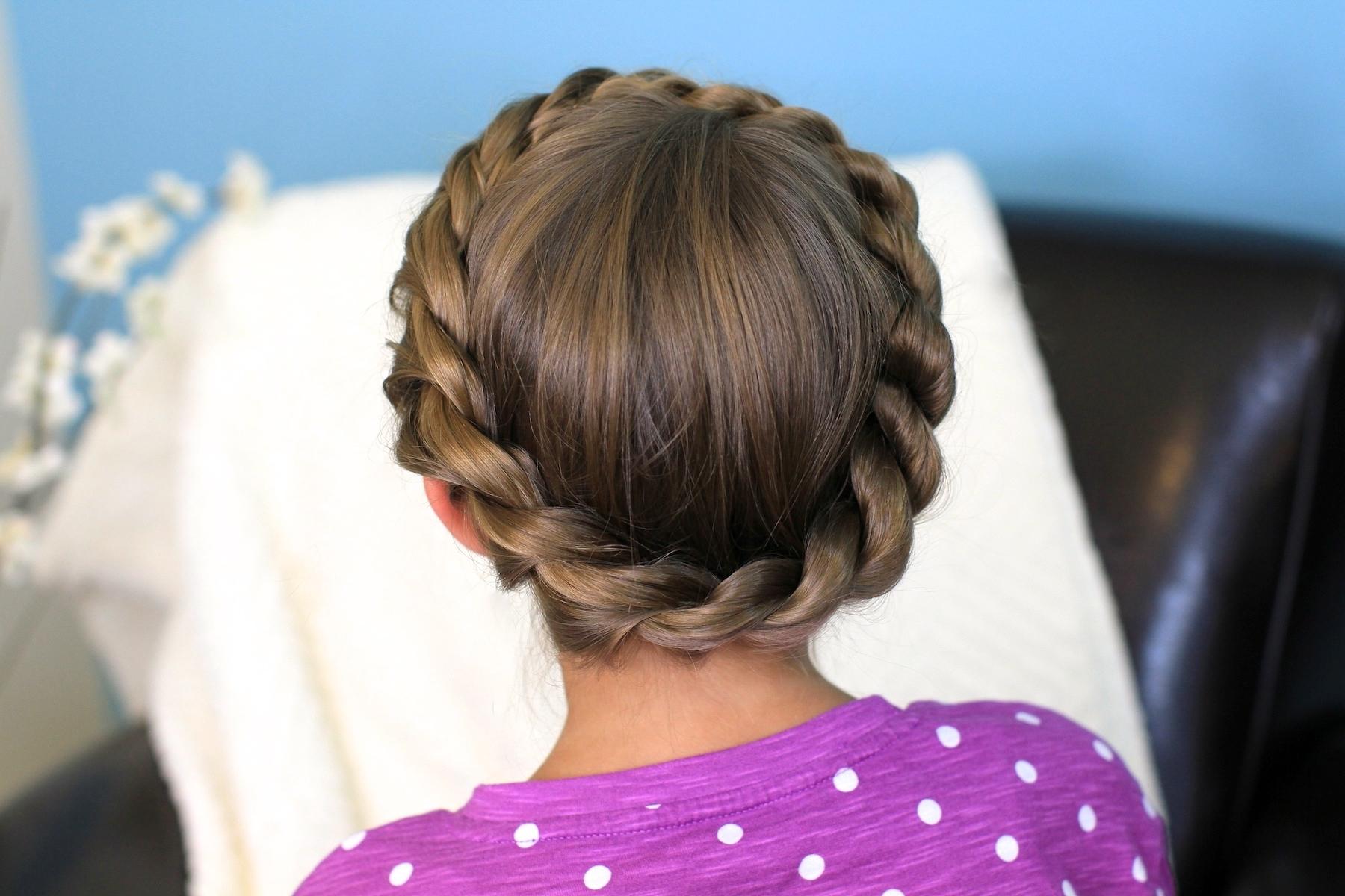 Crown Rope Twist Braid | Updo Hairstyles | Cute Girls Hairstyles Pertaining To Easy Updo Hairstyles For Kids (View 5 of 15)