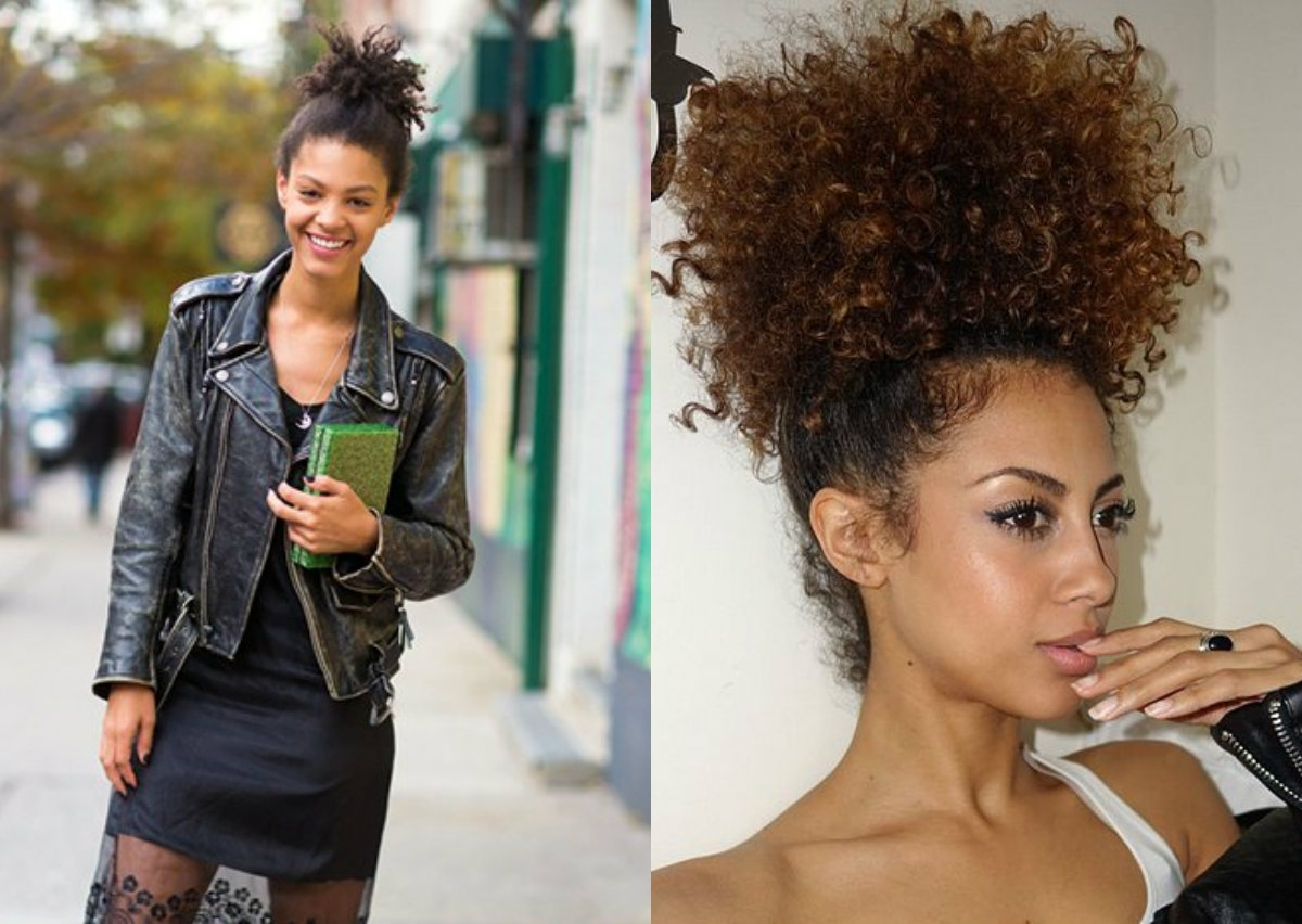 Curly Hair Updos For Black Women Intended For Natural Curly Updos For Black Hair (View 4 of 15)
