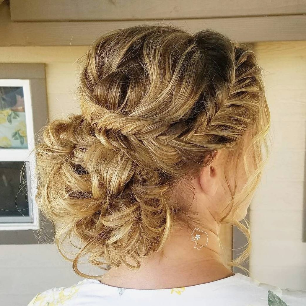 Curly Hairstyles : Best Curly Bun Updo Hairstyles Background To Diy Within Curly Bun Updo Hairstyles (View 7 of 15)