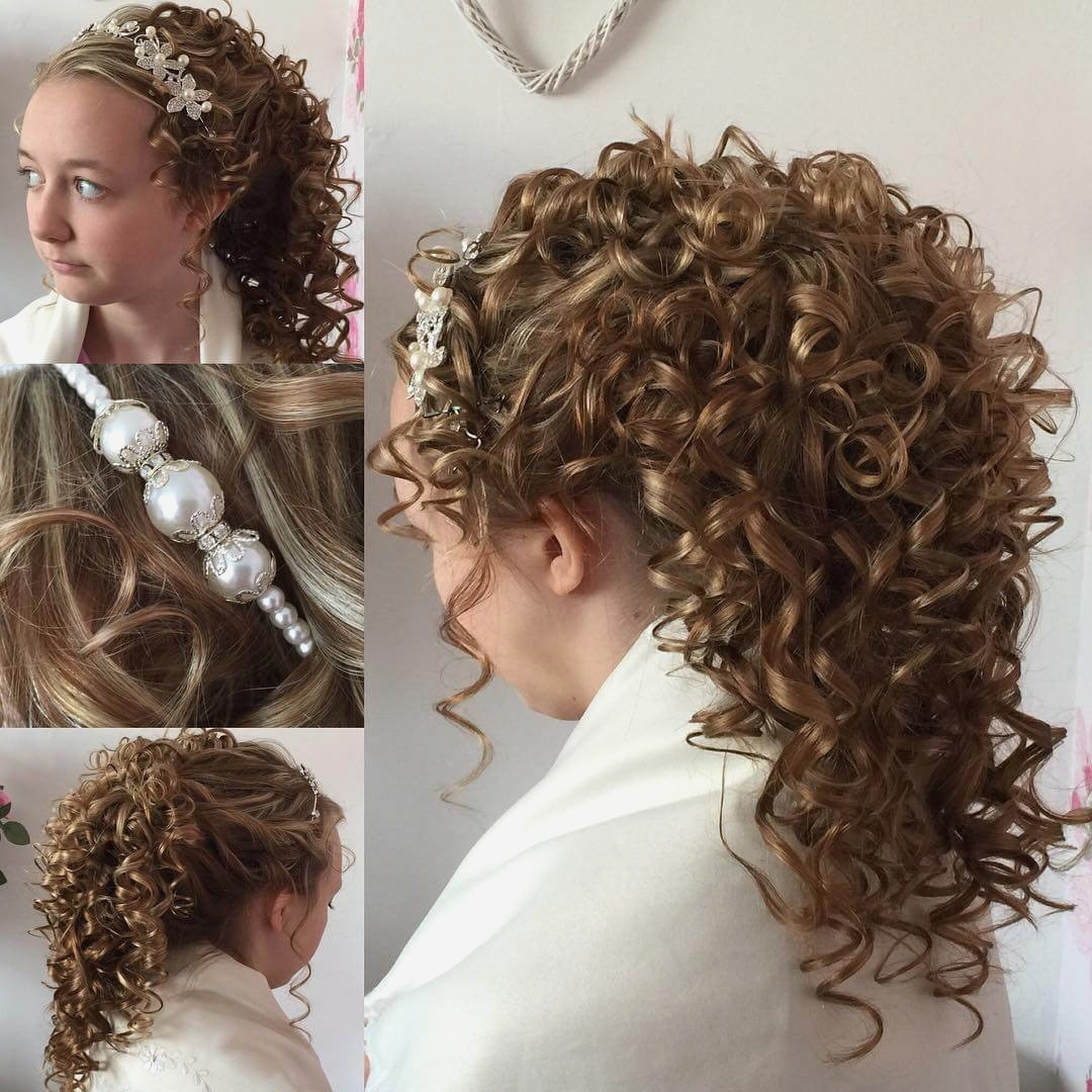 Curly Hairstyles : Bridal Hairstyles For Curly Hair Idea In Throughout Bridal Updos For Curly Hair (View 12 of 15)