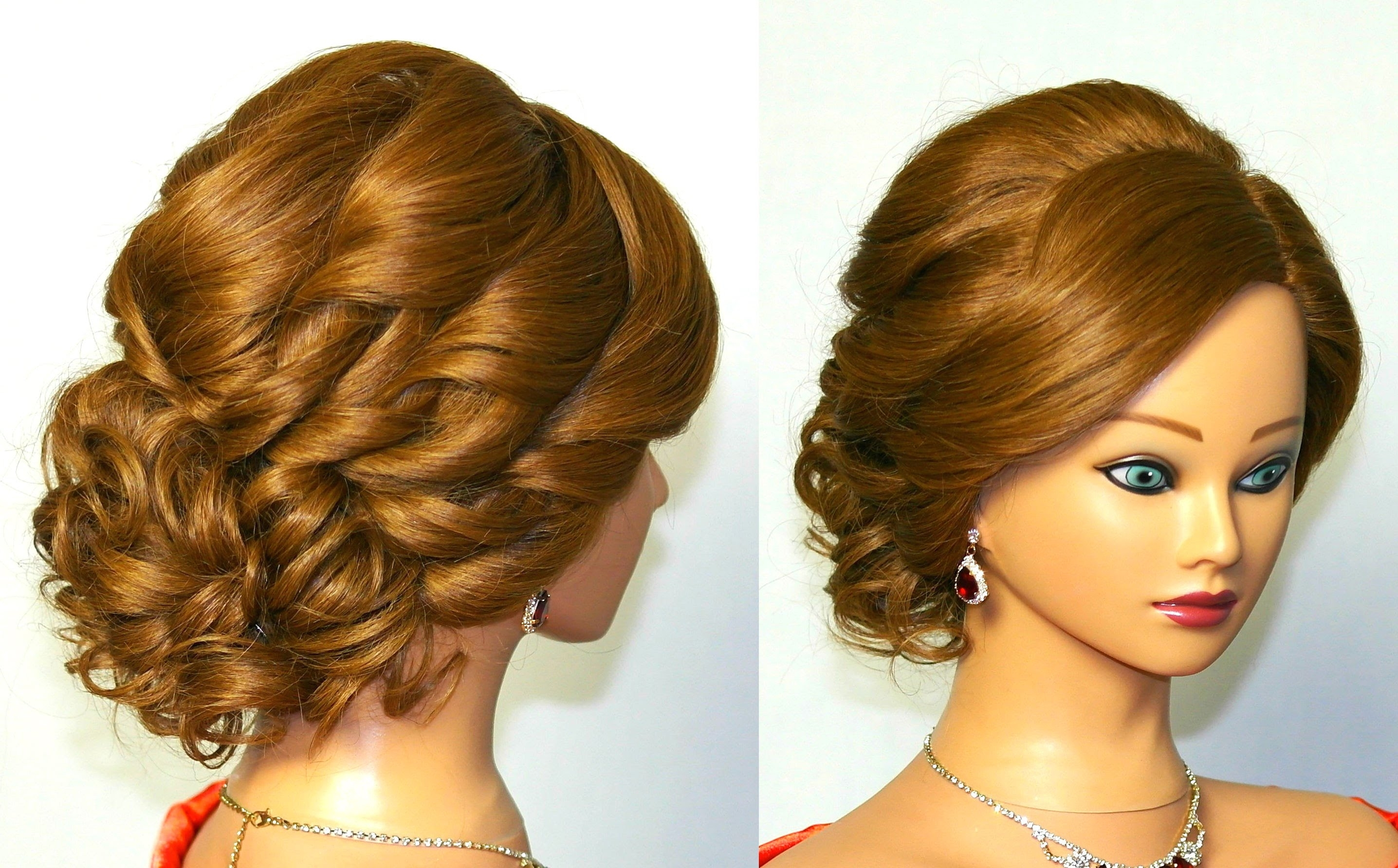 Curly Updo Hairstyles For Long Hair Bridal Curly Updo (View 4 of 15)