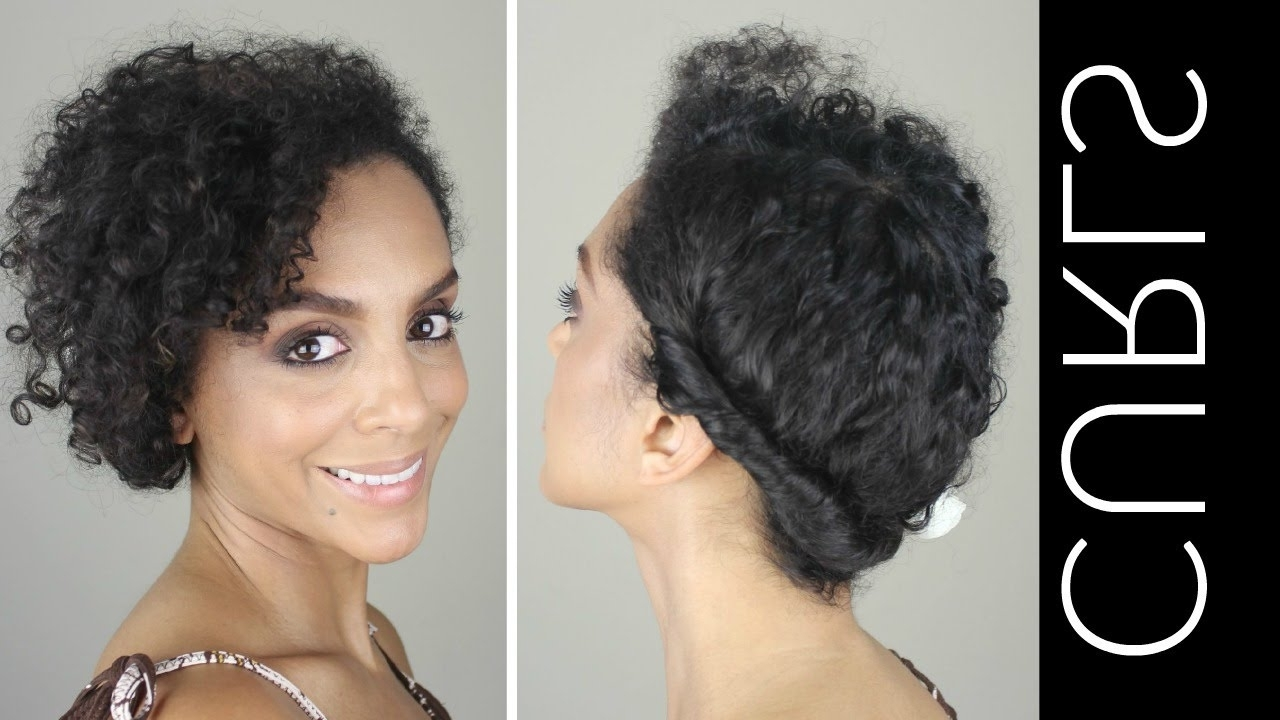 Curly Updo Hairstyles How To Casual Updo For Naturally Curly Hair Pertaining To Natural Curly Updo Hairstyles (View 6 of 15)