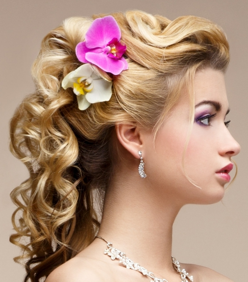 Curly Updo Hairstyles Pretty Curly Updo Hairstyles For Haircuts Within Curly Updo Hairstyles (View 5 of 15)
