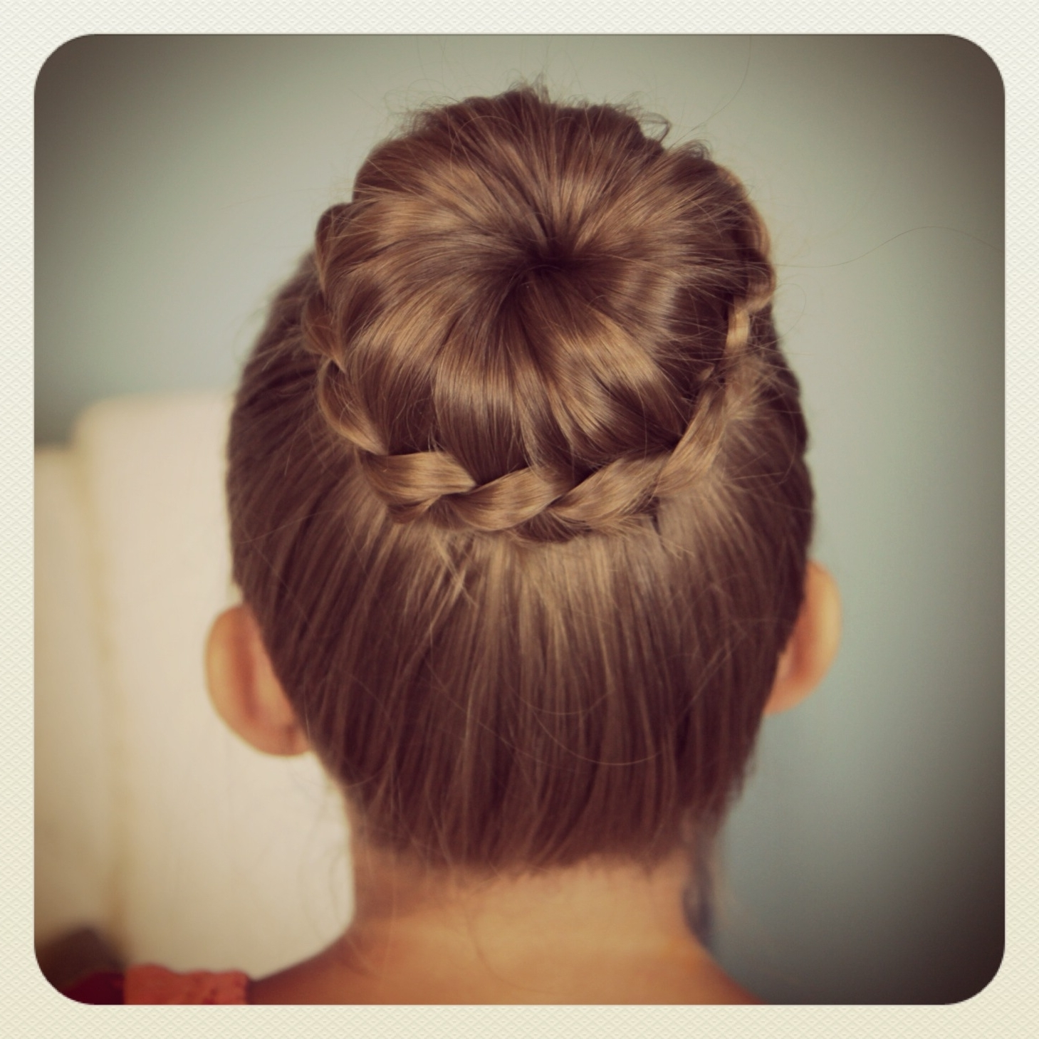 Cute Back To School Hair Cuts | Lace Braided Bun | Cute Updo With Regard To Easy Updo Hairstyles For Kids (Gallery 2 of 15)