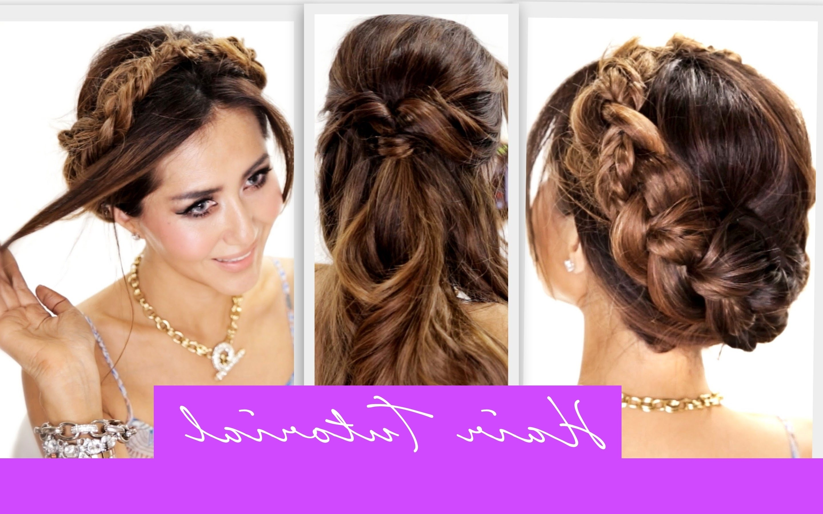 Cute Braided Hairstyles For And Easy Braid Tutorials That Are With Regard To Easy Braided Updos For Medium Hair (View 12 of 15)