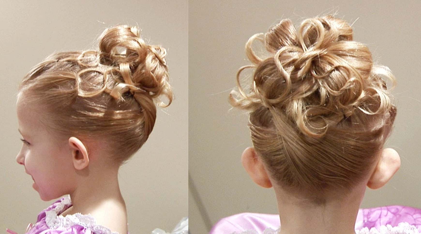 Photo Gallery Of Updo Hairstyles For Little Girl With Short Hair