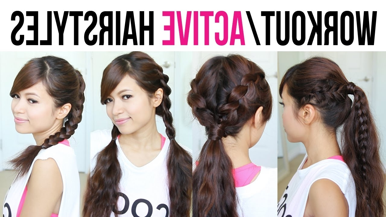 Cute & Easy Back To School Gym Hairstyles For Medium To Long Hair Pertaining To Sporty Updo Hairstyles For Short Hair (View 12 of 15)