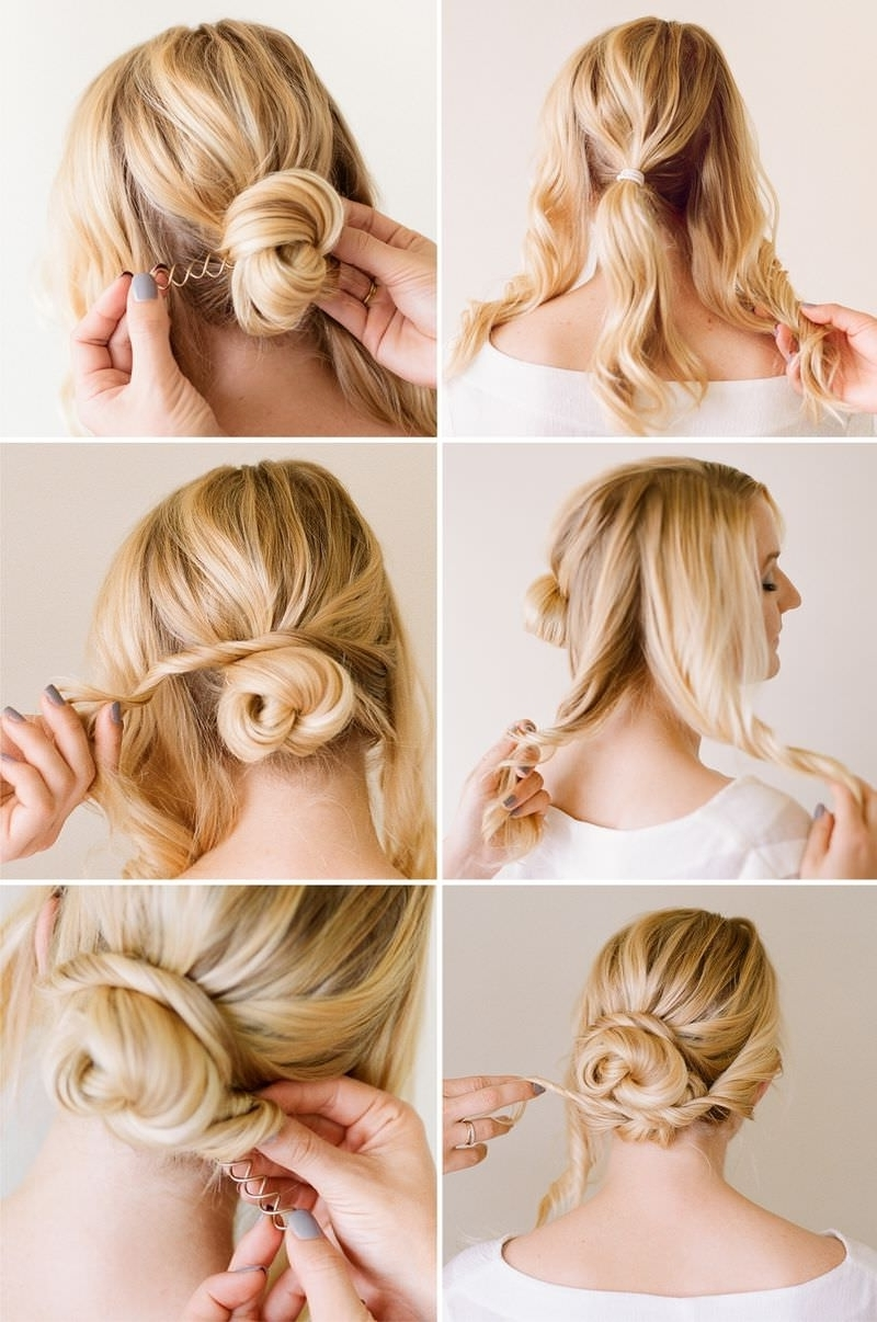 Cute Easy Bun Hairstyles For Long Hair And Unbelievable In A Step Within Quick Updo Hairstyles For Long Hair (View 7 of 15)
