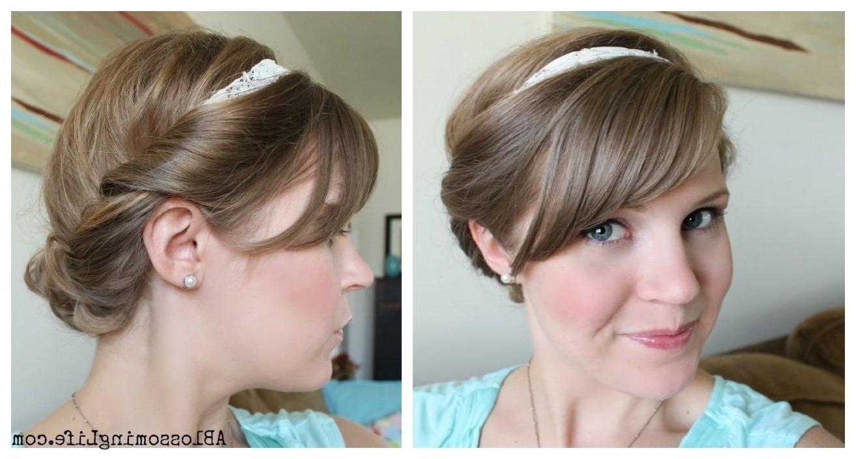 Cute Easy Hairdos For Short Hair Intended For Cute And Easy Updo Hairstyles For Short Hair (View 9 of 15)