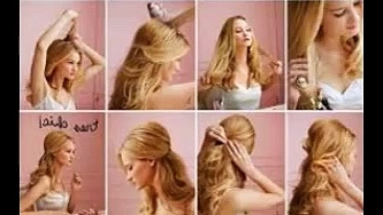 Cute Easy Hairstyles For Long Thin Hair – Video 10 Easy Quick Throughout Quick And Easy Updos For Long Thin Hair (View 6 of 15)