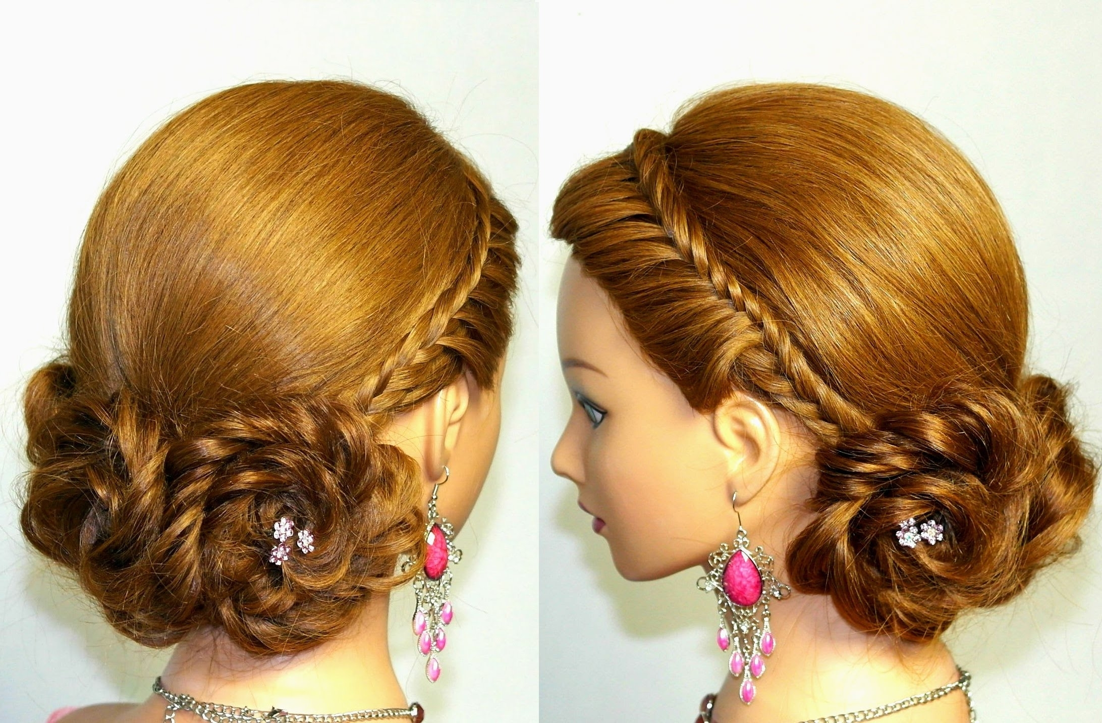 Cute Hairstyle For Long Hair Braided Updo Youtube Brilliant Ideas Of Within Braid Updo Hairstyles For Long Hair (View 8 of 15)