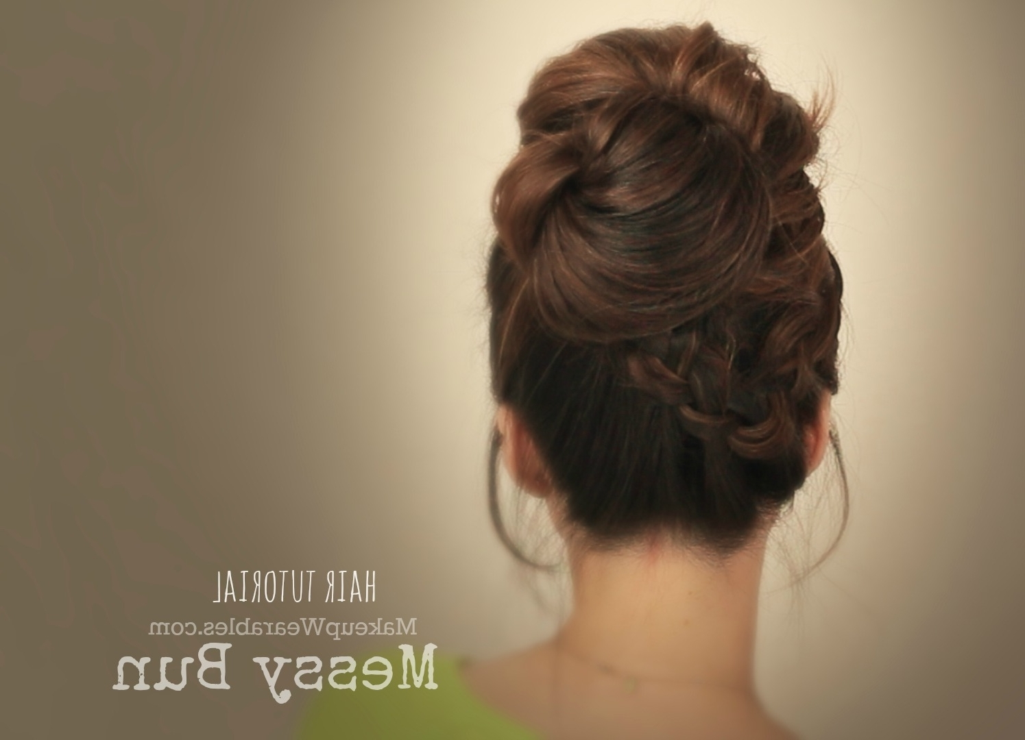 Cute Messy Bun Quick Everyday Updo Hairstyles Hair Tutorial Videos Pertaining To Messy Hair Updo Hairstyles For Long Hair (View 9 of 15)
