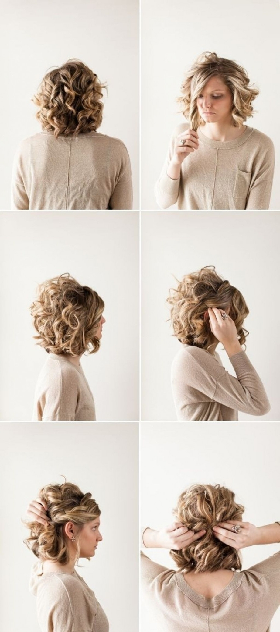 Cute Short Curly Hair Updos Regarding Cute And Easy Updo Hairstyles For Short Hair (View 4 of 15)