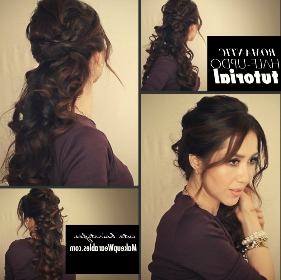 Cute Updo Hairstyles For Long Curly Hair Ideas Collection Simple Inside Cute Updos For Long Hair (View 13 of 15)