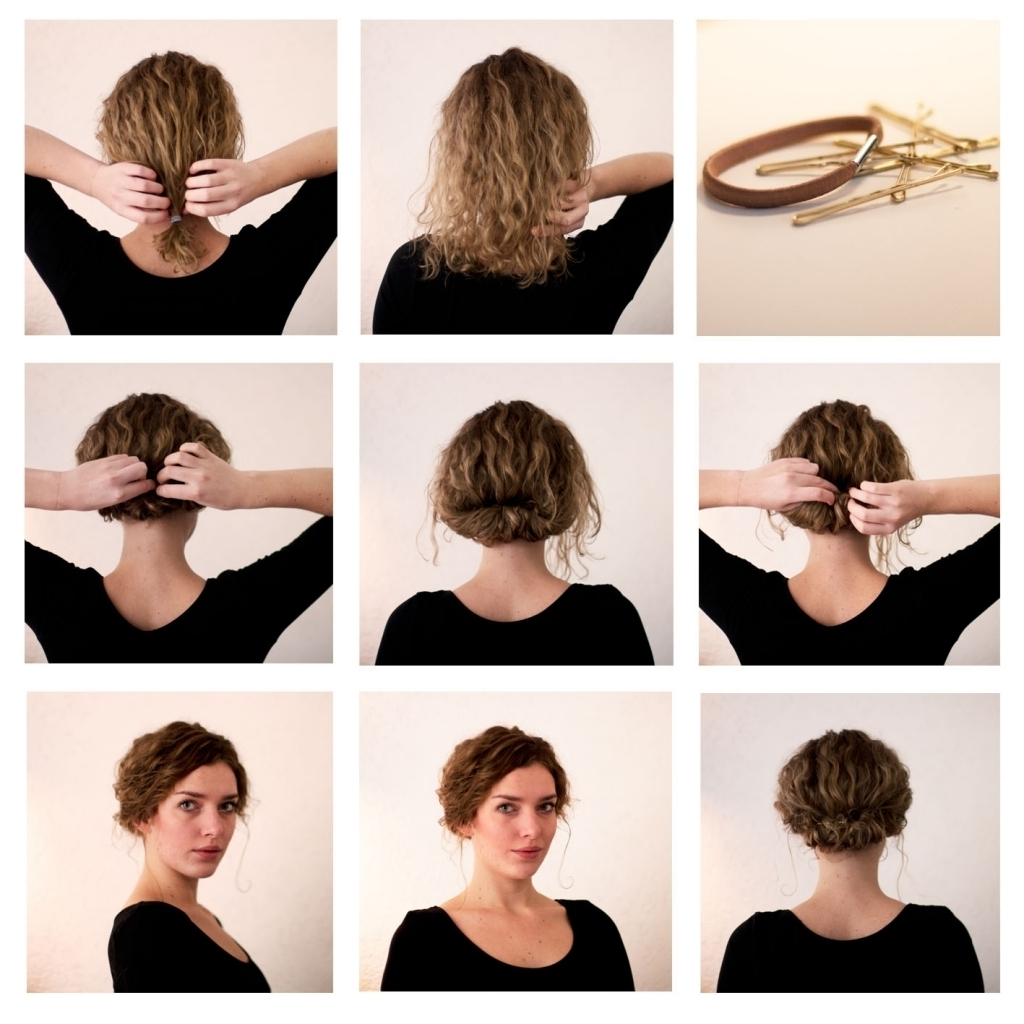 Cute Updo Hairstyles For Short Hair Updo For Short Hair Tutorial Throughout Cute Updos For Short Hair (View 8 of 15)