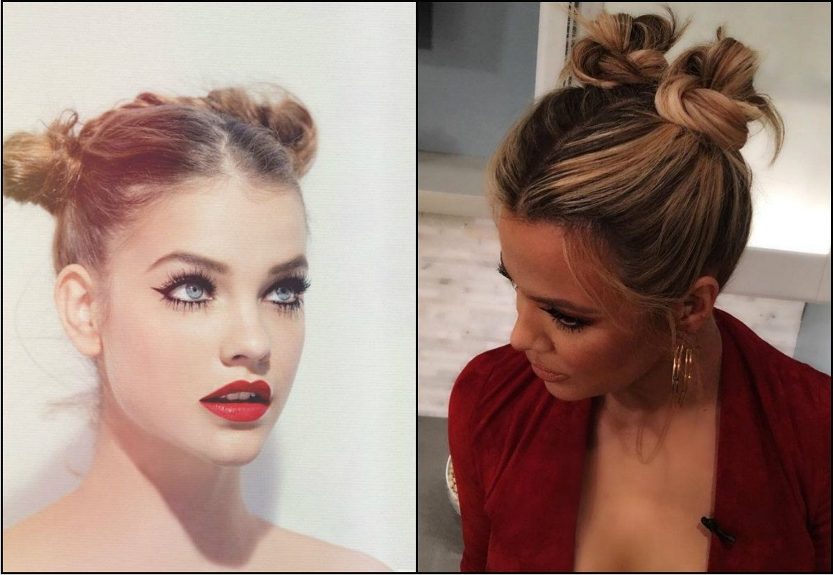 Dainty Back To School Hairstyles To Impress Your Mates | Double Bun Intended For Updo Hairstyles For School (Gallery 11 of 15)