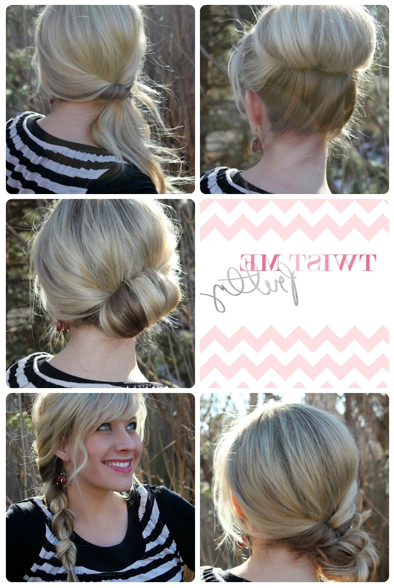 Different Up Do's For The Ponytail Lover – Video – If You Are Guilty For Quick Updos For Medium Length Hair (View 5 of 15)