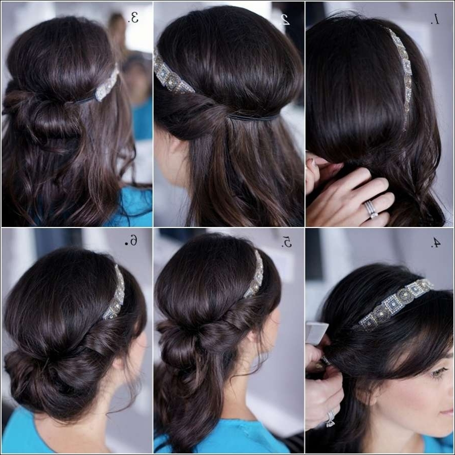 Diy Banded Chignon Hairstyle For All The Beauties Out There Inside Chignon Updo Hairstyles (View 9 of 15)