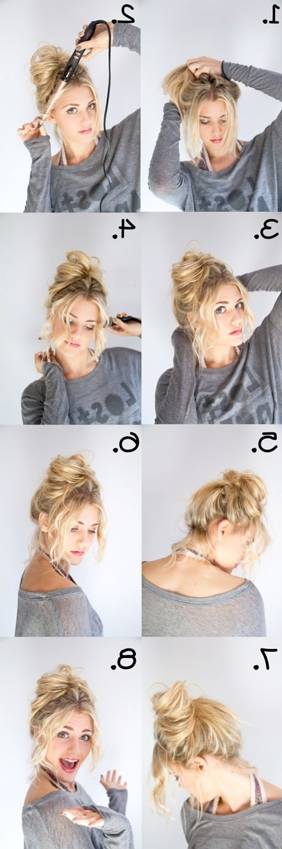 ☆ 2 Minute Elegant Bun For Thin Hair | Easy Updo Hairstyles For In Easy Updo Hairstyles For Long Thin Hair (View 8 of 15)