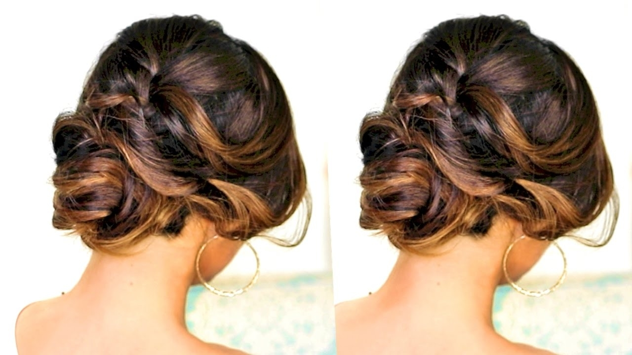 ☆ Romantic Updo Hairstyle | Hairstyles For Long Medium Hair – Youtube In Romantic Updo Hairstyles (View 4 of 15)