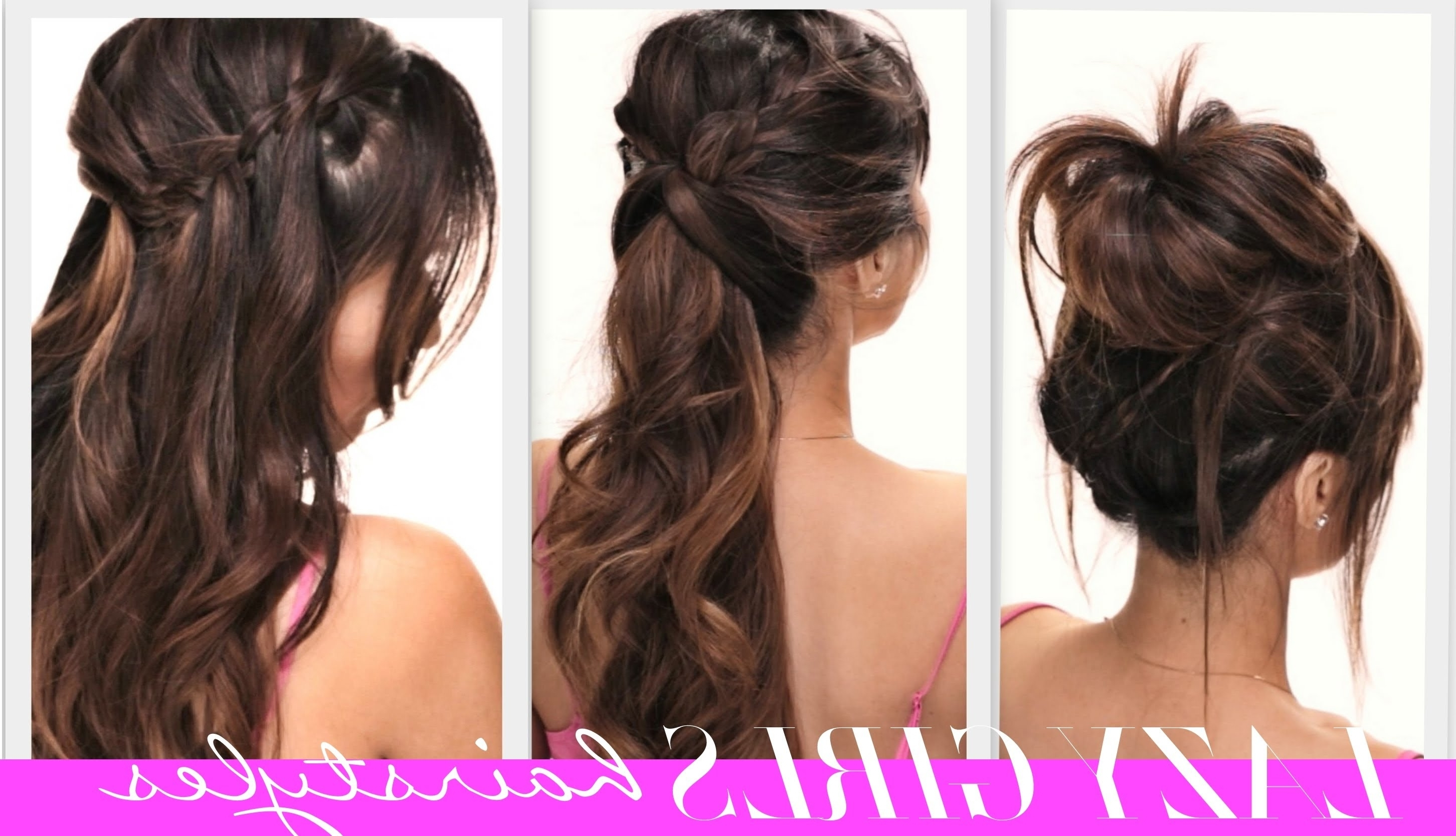☆4 Easy Lazy Girls Back To School Hairstyles | Cute Hairstyle With Regard To Teenage Updos For Long Hair (View 1 of 15)
