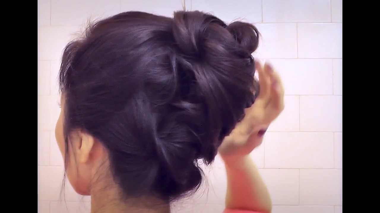 ☆Hair Tutorial: Cute Hairstyles With Bottom Twist Bun Updo For Pertaining To Twisted Bun Updo Hairstyles (View 2 of 15)