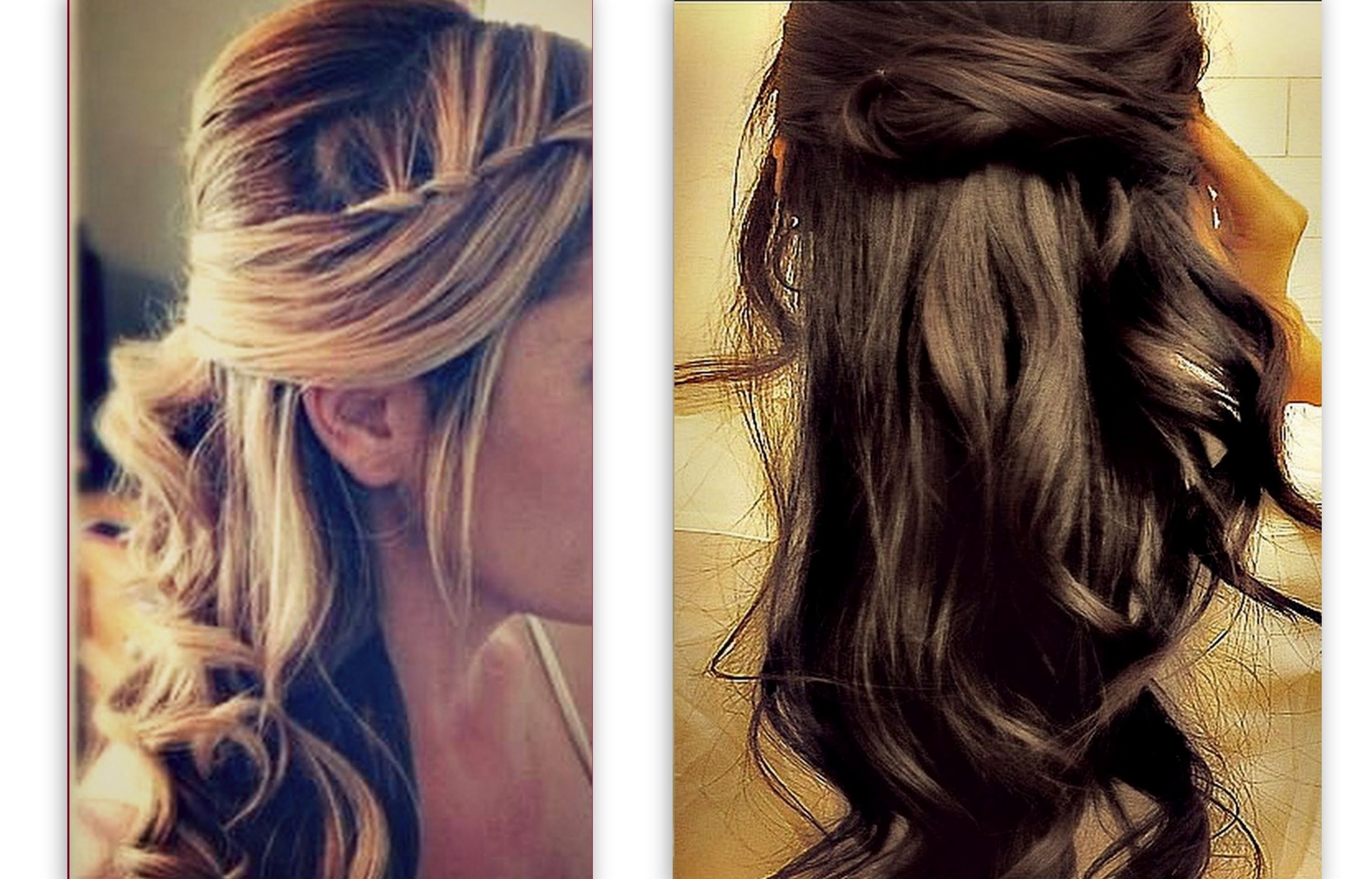 ☆hair Tutorial Cute Hairstyles With Twist Waterfall Braid For In Updo Hairstyles For Long Hair With Bangs And Layers (View 12 of 15)