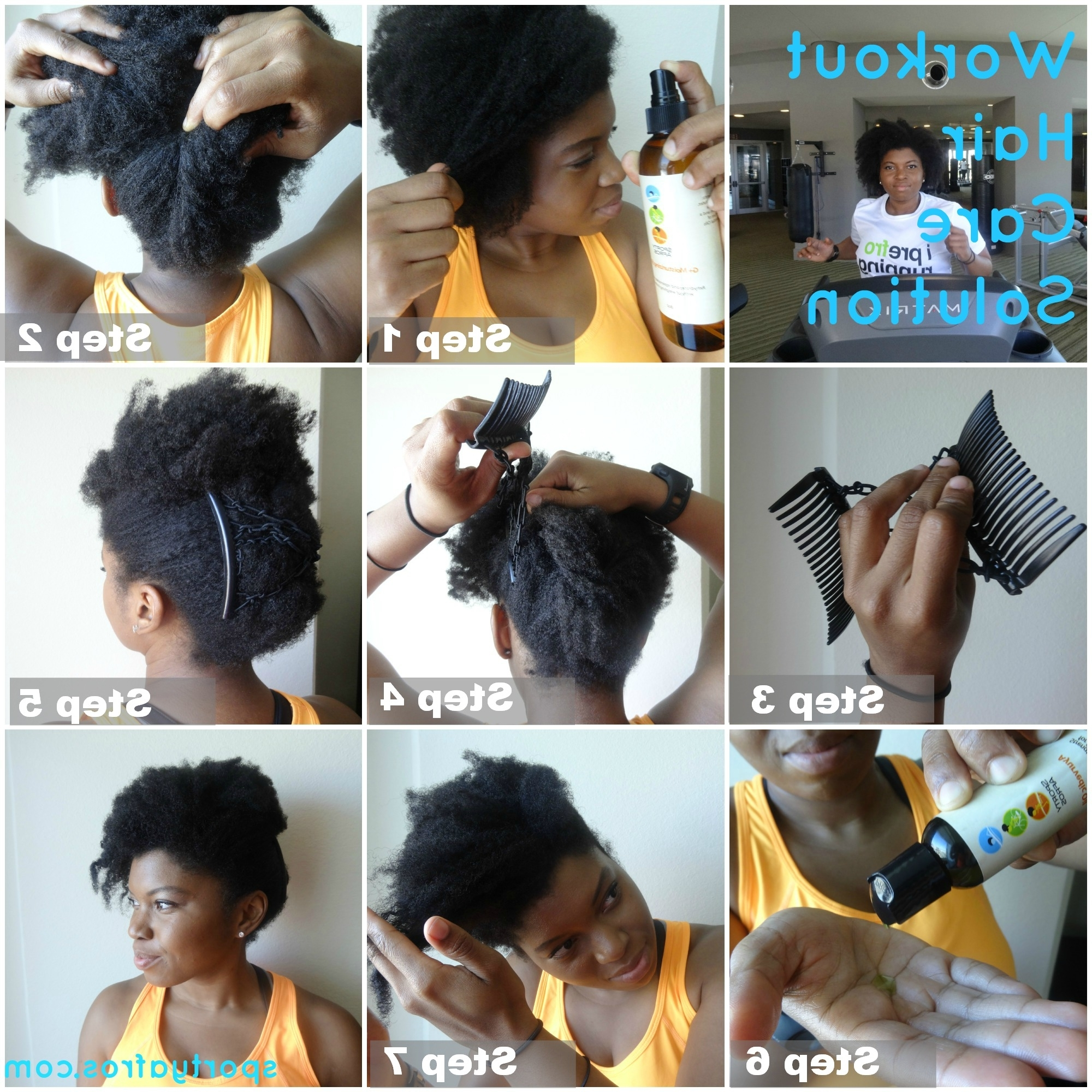 Easy And Simple Workout Hair Care Solution – The 5 Minute Updo With Sporty Updo Hairstyles For Short Hair (Gallery 13 of 15)