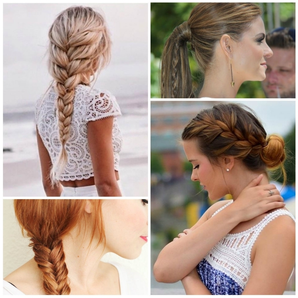 Easy Braid Updo Hairstyles How To Do Simple Braided Updos Braids Intended For Easy Braid Updo Hairstyles (Gallery 12 of 15)