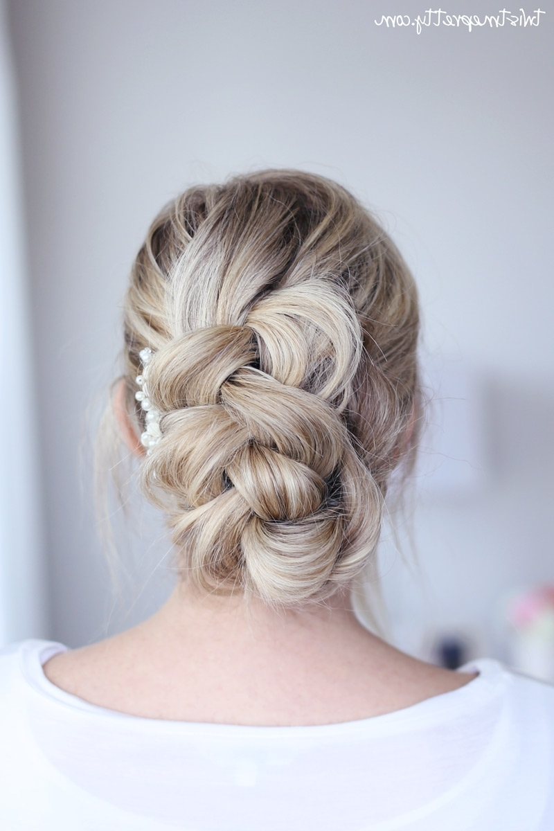 Easy Braided Updo – Twist Me Pretty Throughout Easy Braid Updo Hairstyles (View 11 of 15)