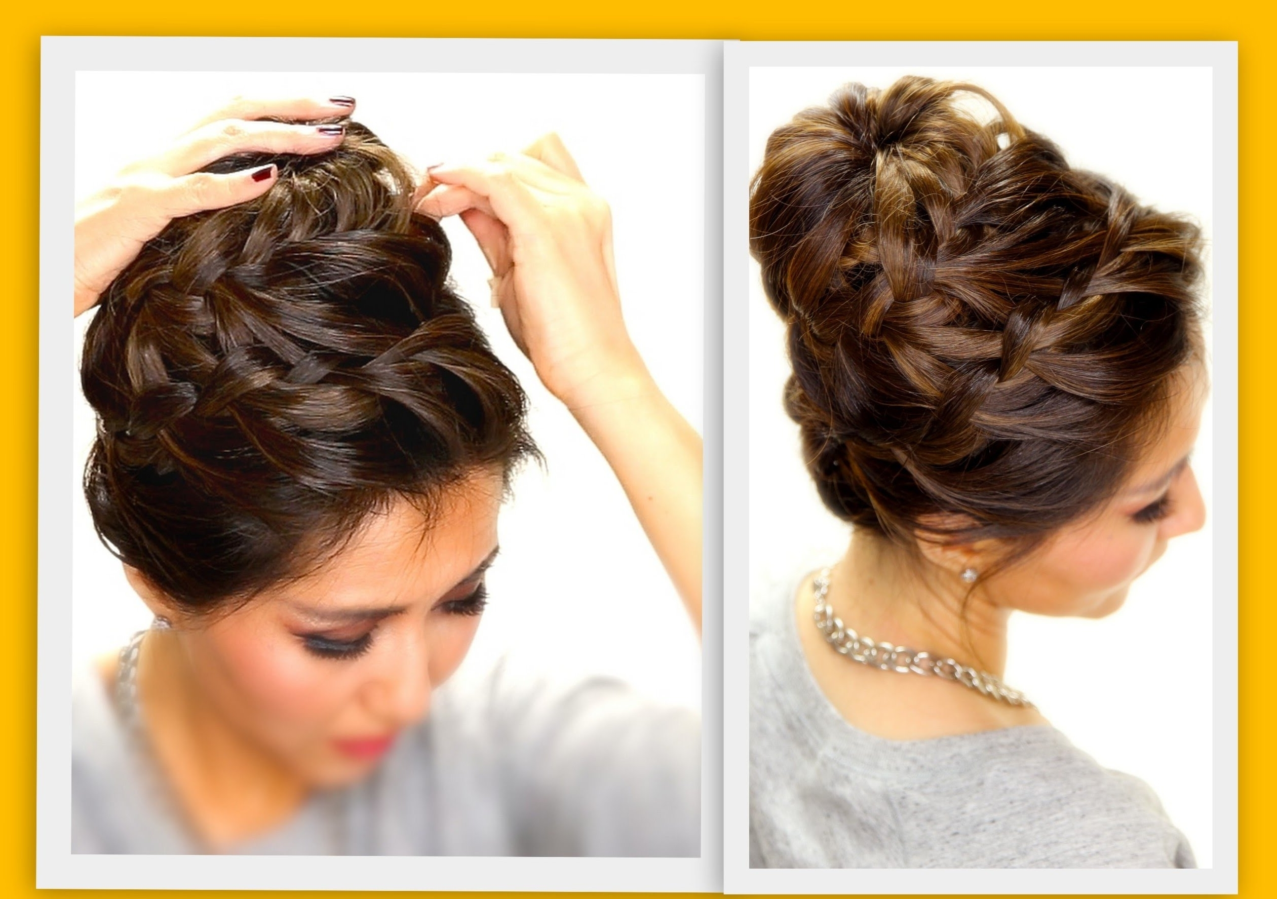 Easy Buns For Medium Hair – Hairstyle For Women & Man Intended For Simple Hair Updo Hairstyles (View 11 of 15)