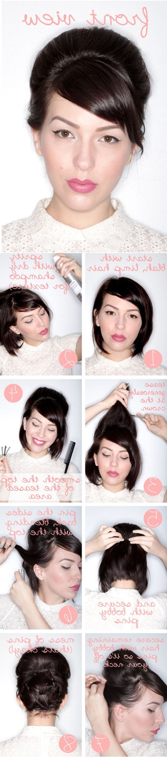Easy Diy Tutorials For Glamorous And Cute Hairstyle Intended For Diy Updo Hairstyles For Long Hair (Gallery 15 of 15)