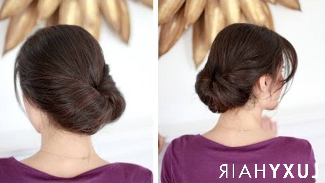 Easy Everyday Updo – Youtube Intended For Easy Everyday Updo Hairstyles For Long Hair (Gallery 5 of 15)