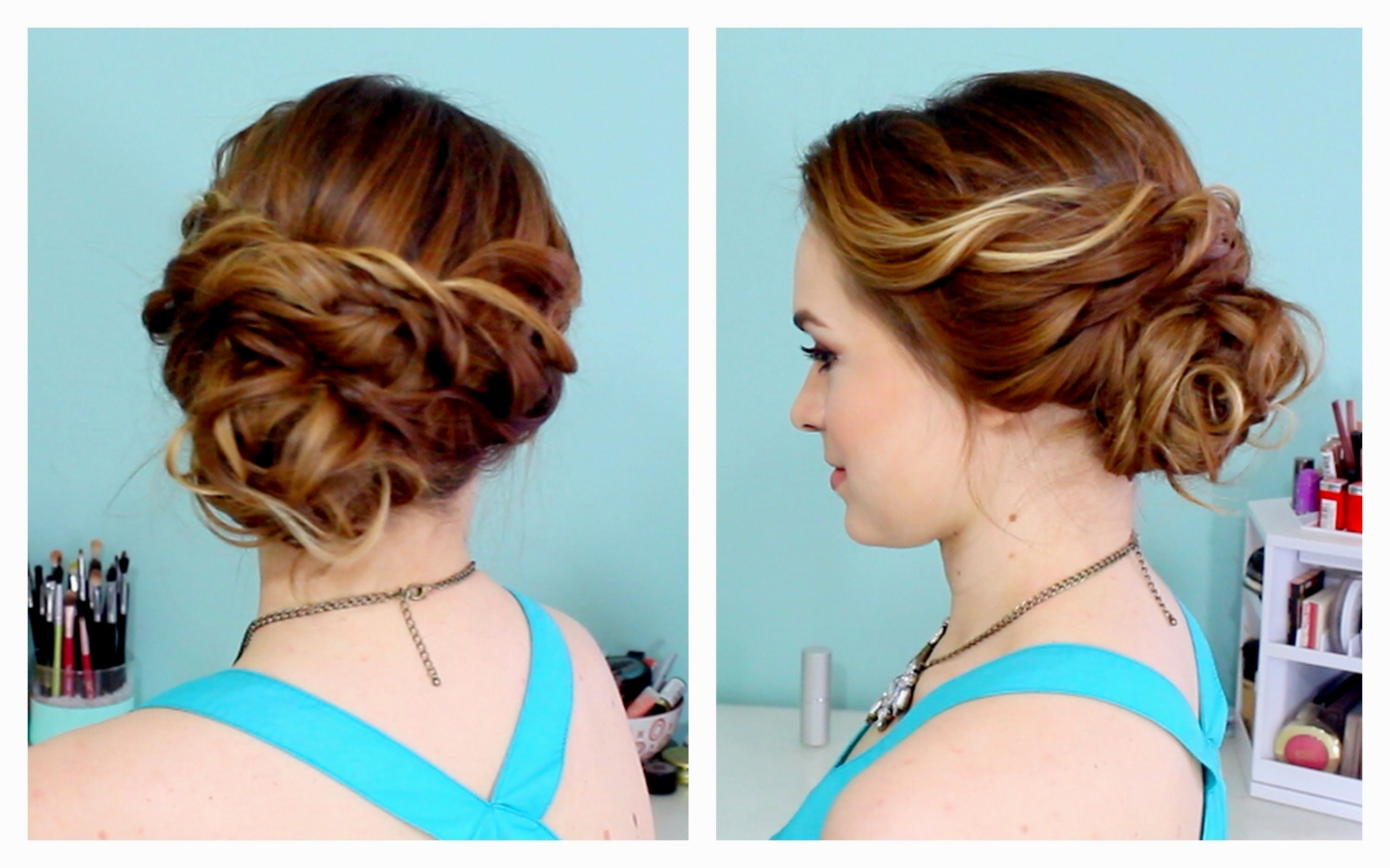 Easy Hair Updos For A Wedding – Women Hair Libs Inside Wedding Hairstyles For Long Hair Updo (View 10 of 15)